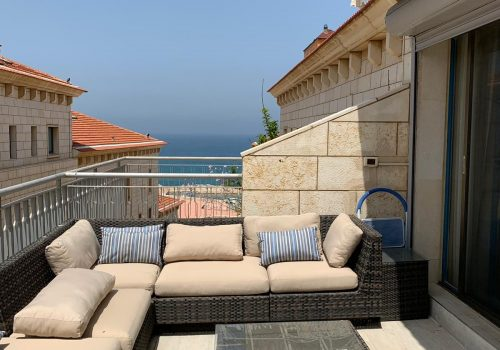 In the prestigious Andomada  Jaffa ocean view